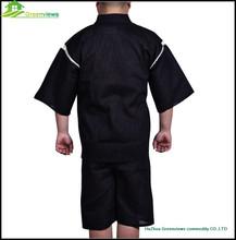 Japanese style fancy cute black pajamas for men cotton kimono style sleepwear men night gown bathrobe GVXF0002