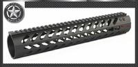 Vector Optics KeyMod Tactical Rifle 12 inch Free Float Handguard Mount Bracket with Detachable Rails BLACK STEEL Barrel Nut