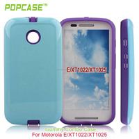 For Moto e Hybrid Hard Case Cover LIGHT BLUE/PURPLE with UV coating