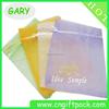 Transparent mini organza gift bag with logo ribbon