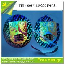 Promotional custom anti-fake hologram tamper proof sticker