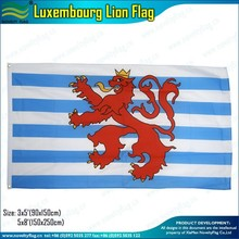 2x3ft, 3x5ft 100D polyester Luxembourg lion flag