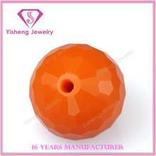 Round Ball Cut Through Hole Coral Gemstone Beads