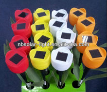 TH027B 16 set plastic flower solar lights for garden