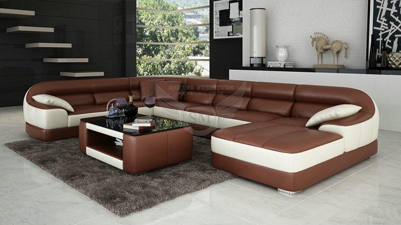 Fashionable Round Shape Modern New Design Corner Sofa