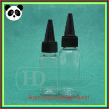 China supplier PET bottles sharp caps 30ml 30ml twist cap pet bottles 30ml 60ml 120ml PET bottles
