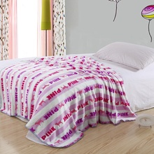 Airline Throw Coral Fleece Blanket With Customer Print