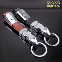 Hight quality fashion custom leather Luxury Jaguar Keychain For Business gift