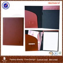 Bowen a4 genuine leather cheap promotional portfolio file folder