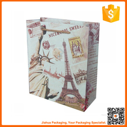 fancy recyclable color craft paper shopping bag