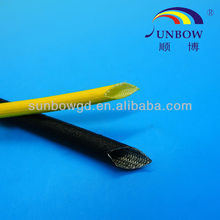 Oil resistant acrylic fiberglass sleeves for electrical appliance protected