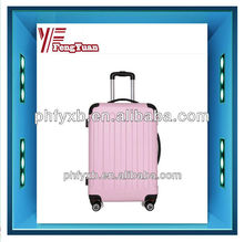 2015 china alibaba colorful western business travel trolley luggage bags with concise colour