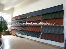Stone-coated metal asphalt roofing tiles for roof