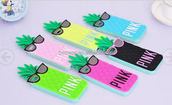 Cute 3D pineapple Silicone cell Phone Case for samsung galaxy note3 /N9005