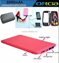 6000mAh high quality portable 12v car jump starter power all