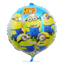 Hot sale low MOQ helium funny minion balloon for kids