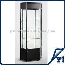 Hexagonal Wall Mounted Glass Display Cases