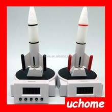 UCHOME TG Blast Off Rocket Launching Digital Alarm Clock The Houston Rocket