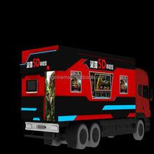 High-class hydraulic motion best home cinema truck mobile 5d cinema
