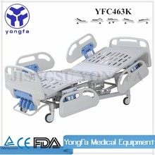 YFC463K ISO CE Approved Tuck-away side rail Foldable&Concealed Manual Crank manual therapy bed