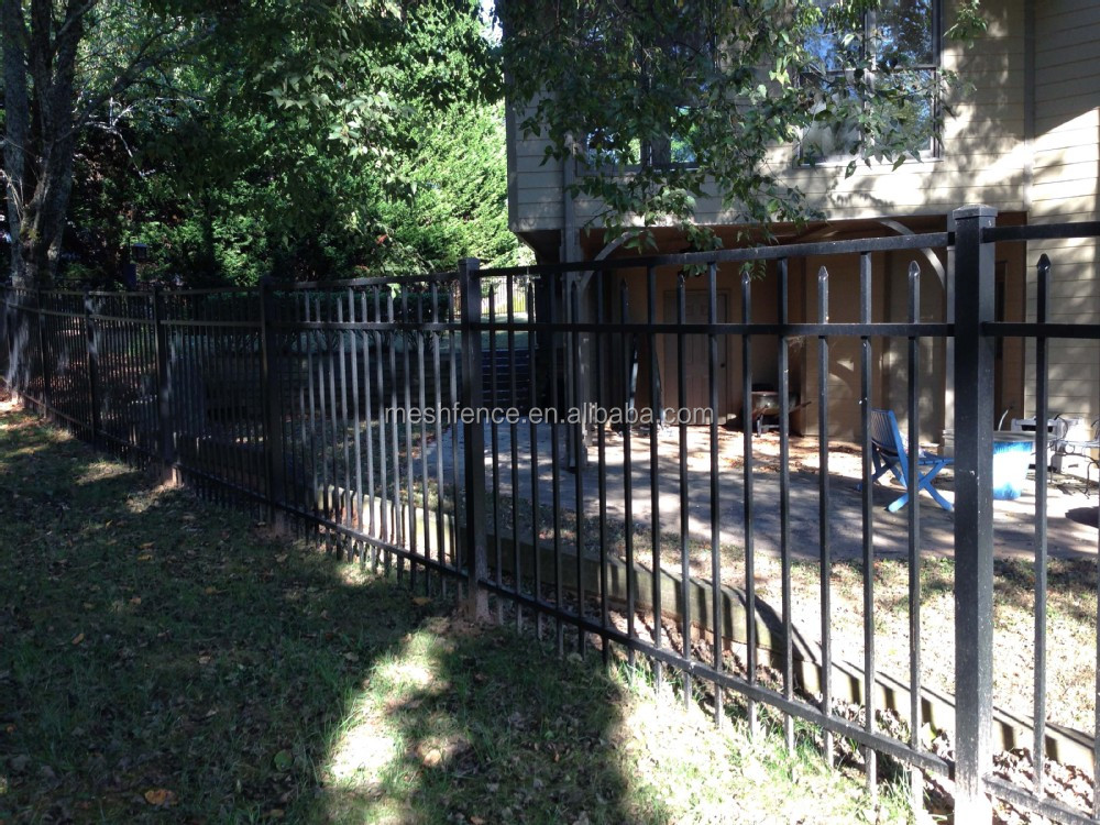 Pvc wrought iron metal garden fence panels and gate