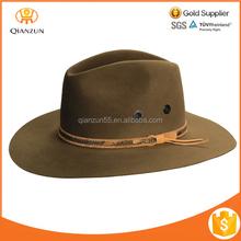 Fedora Hat Wide Brim Wool Felt Hat Blank Wholesale Men Fedora Hat