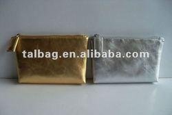 metallic pu leather clutch bag