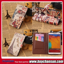 2015 Factory price cell phone leather case for lenovo a5000
