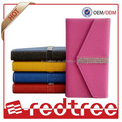 Wallet with diamond cell phone cover for brabd mobiles