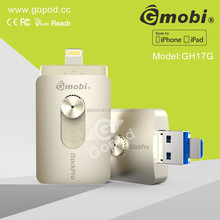 New products 2015 Gmobi iStick Pro metal USB flash drive with memory card & Lighting USB key For iPhones, iPads & Computers