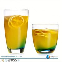 Sanzo Custom Glassware Manufacturer water liquid activated led flash glass cup