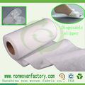 Spunbonded materiais não tecidos em fazer chinelos