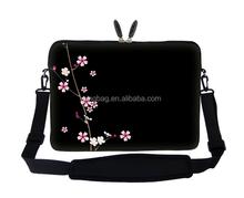 17.3 inch Neoprene Laptop Sleeve Bag Carrying Case with Hidden Handle and Adjustable Shoulder Strap