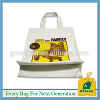 Cotton bag with zipper with tear notch for dried flower