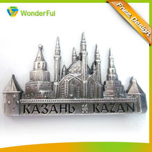 Hot Promotional Customized Building Metal Decorative Souvenir Kasbah Kazan Fashion Metal Fridge Magnet