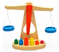 Wooden Balance Scale Kids Learning Toy
