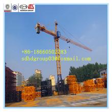 China Hongda electric/hydrualic tower crane QTZ63B(5610) 6t tower crane