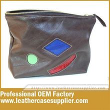 OEM factory PU leather large cosmetic bag travel