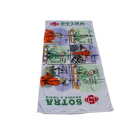 100% Cotton Fiber Reactive Printed Beach Towel Custom