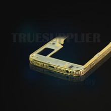 Wholesale 24kt gold housing frame with diamond for Samsung galaxy S6 gold housing