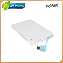 Promotional gifts 2014 credit card power bank ultra slim power bank 2500mah