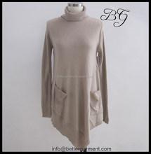 latest winter and autumn lady girl women women knit turtleneck sweater dress long designs BG151003 , style turtleneck sweater dr