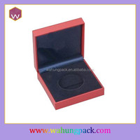 Red coin presentation box leather coin case