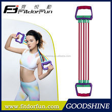 Factory Direct Sale Home Exercise Equipment Interchangeable Elastic Tube Chest Expander