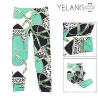 2015 elegant fashion ladies pants / art pattern sport trousers