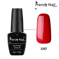 bright red clear organic material jessica gel nail polish