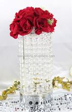round wedding centerpiece artificial flower/cylinder flower stand/led wedding centerpiece