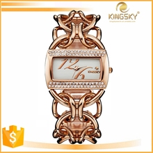 Fashion ladies big face charming hand watch