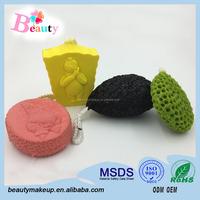 Hot Sell Cute Shape Bamboo Charcoal Body Cleaning Sponge/Bath Sponge With Soap/Bath Glove Manufactory