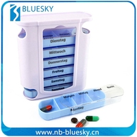 Hot Sale 7day plastic pill case promotional Monthly Pill box